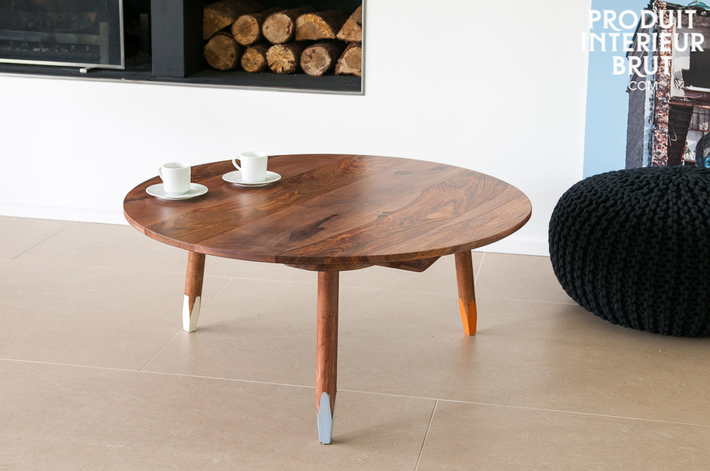 Pencil coffee table - Entirely made of solid rose wood | pib