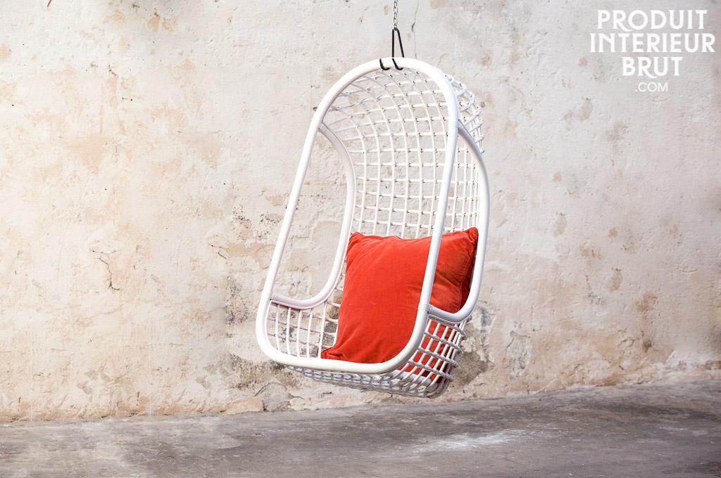 Hanging chair valk 246 nen scandinavian elegance with white rattan