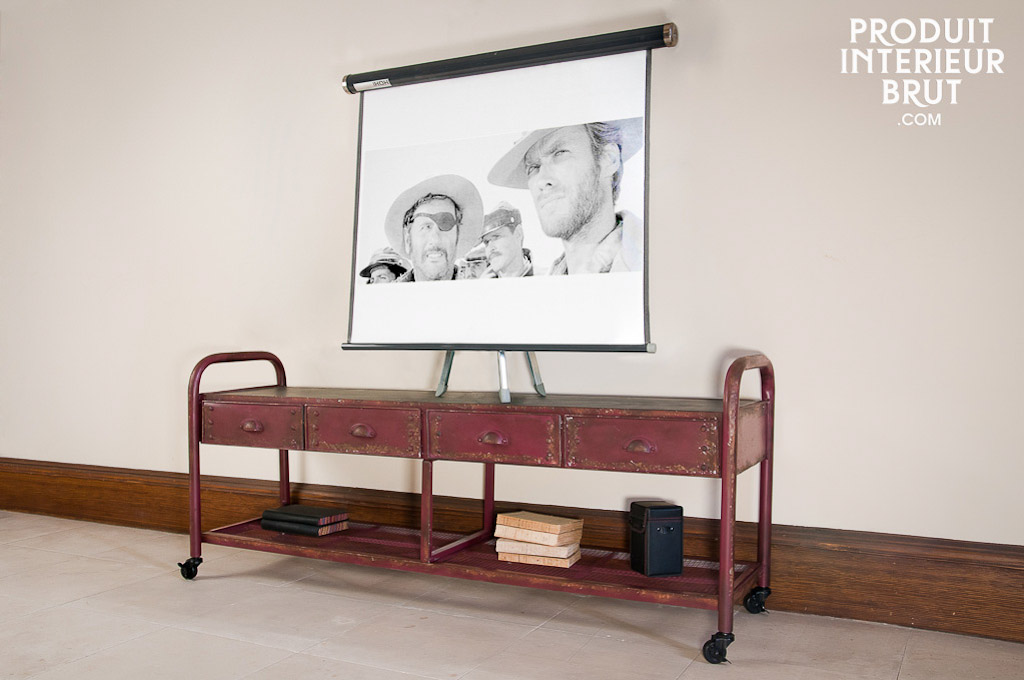 Industrial TV console - A practical and robust cabinet, | pib