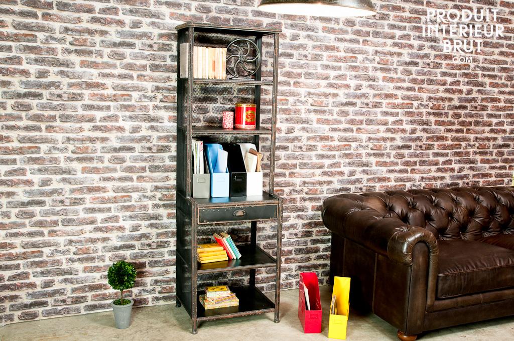 Pompéi Mesh shelf - A high workshop style metal storage | pib