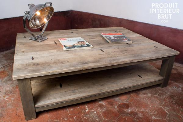 The coffee table the vintage coffee table # Table Basse Bois Massif Brut