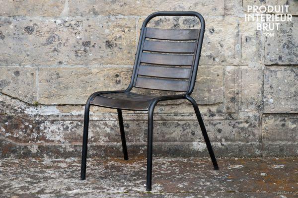 chaise metal pas cher. Black Bedroom Furniture Sets. Home Design Ideas
