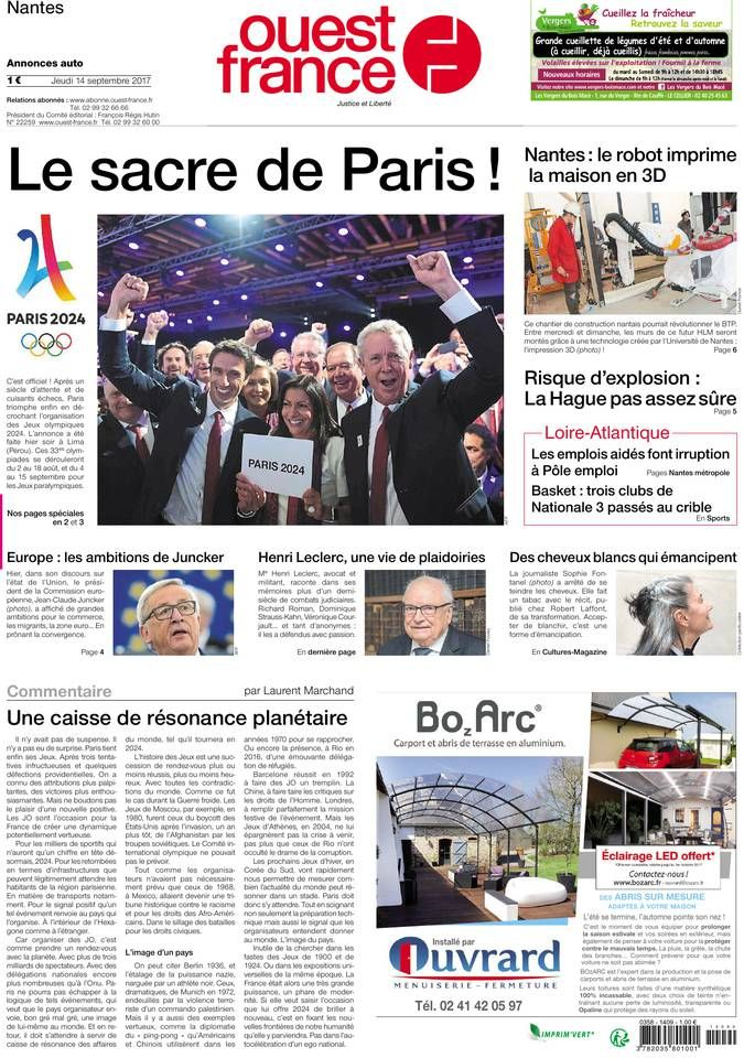 Ouest france Sep 2017