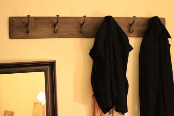 Giant wood and metal coat rack