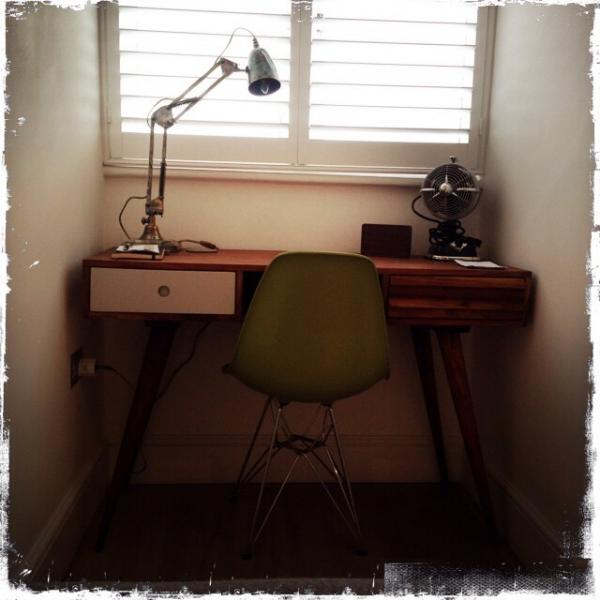 Love my Stockholm desk and my 1957 Desk Lamp! wondefully retro