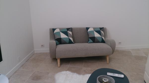Grey Geneva two-seater sofa