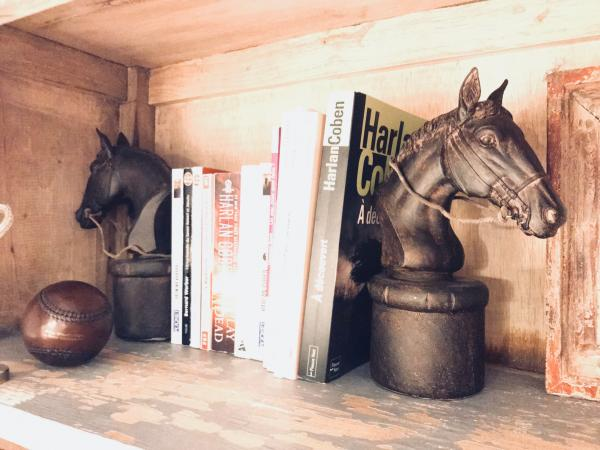 Pair of hippique bookends