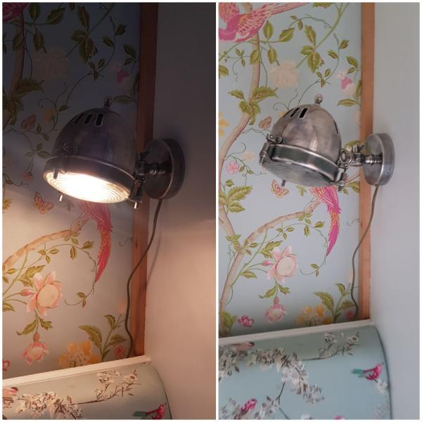 Silver-plated headlight wall lamp