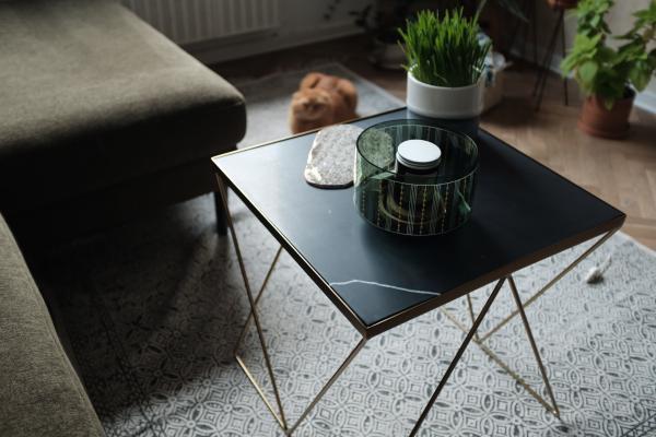 Bumcello golden side table