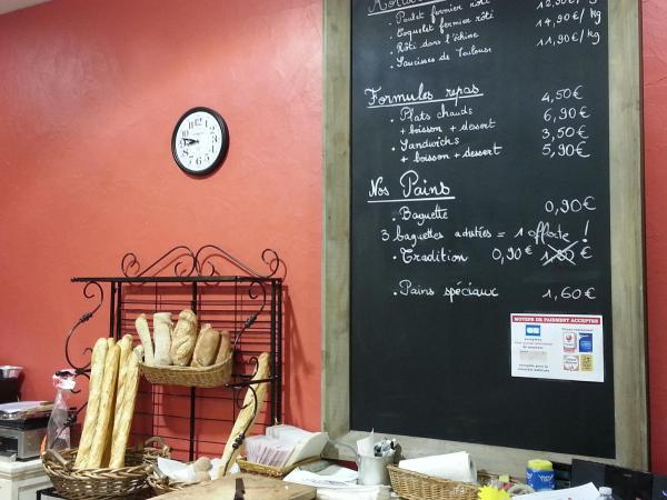 115*190cm Long Café blackboard on a red brick wall that cheerfully greets our clients in our bakery :-)