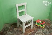 BLEACHED WOOD CHILD CHAIR