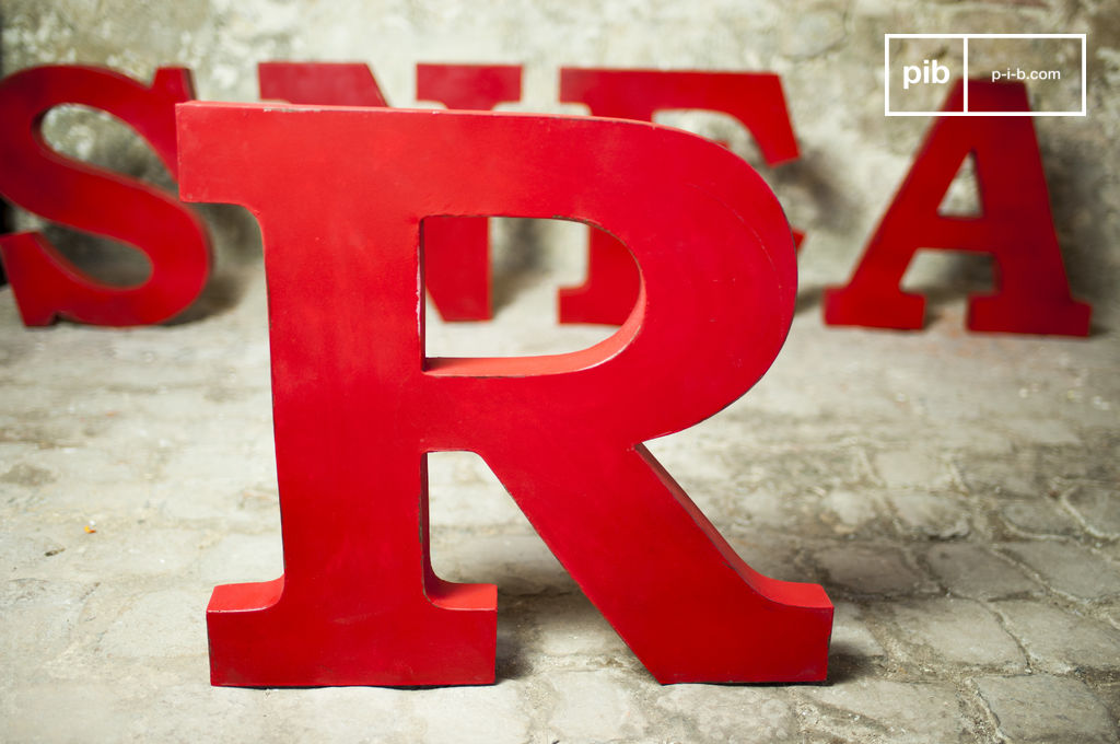 decorative letter r entirely made of metal pib. Black Bedroom Furniture Sets. Home Design Ideas