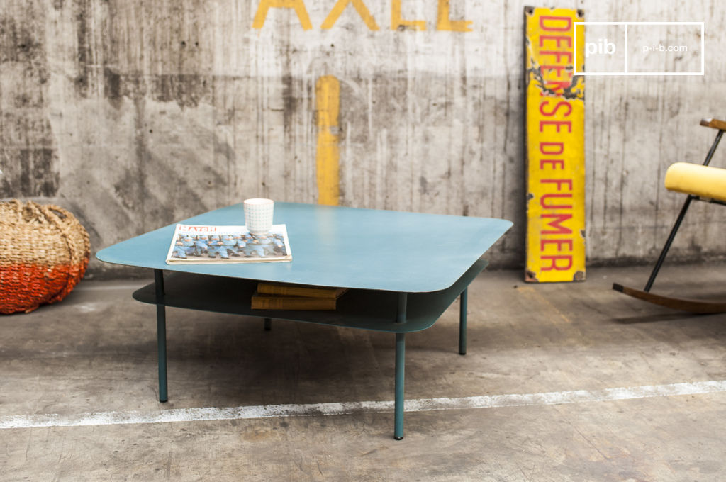 holly coffee table made entirely out of metal pib. Black Bedroom Furniture Sets. Home Design Ideas