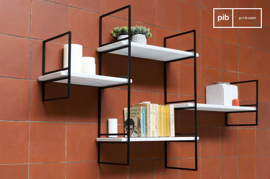 modular bridget marble shelf 4 white shelves pib. Black Bedroom Furniture Sets. Home Design Ideas