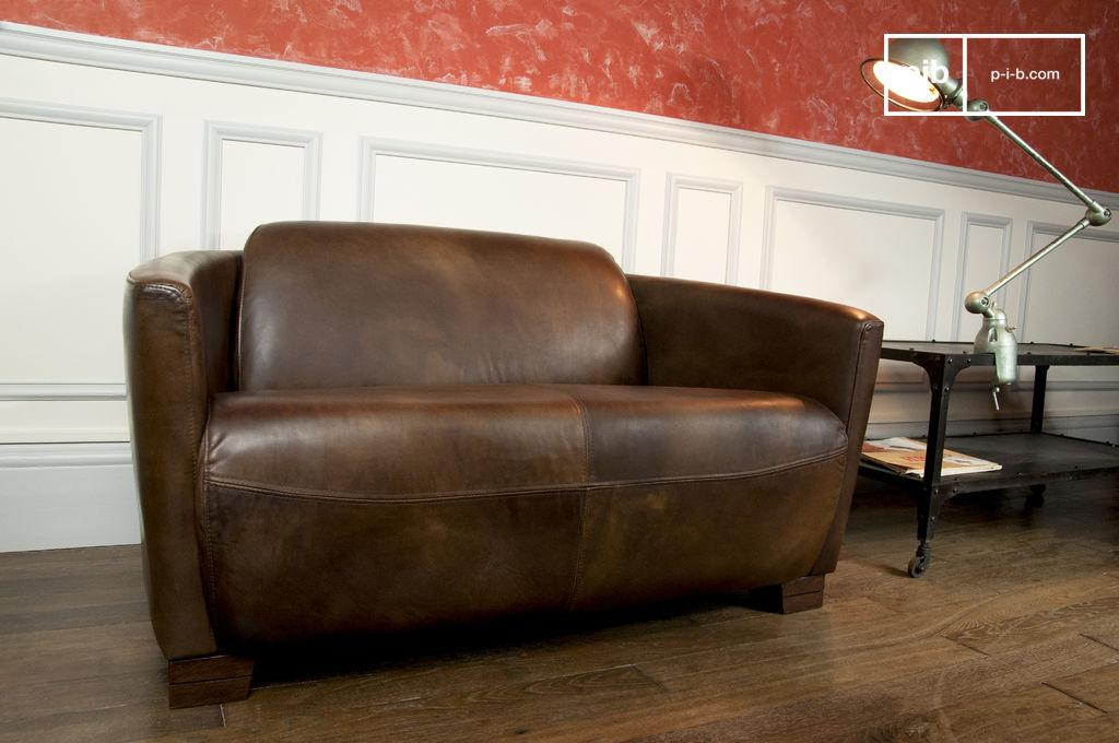 Red Baron Leather Sofa 100 Buffed Leather Pib