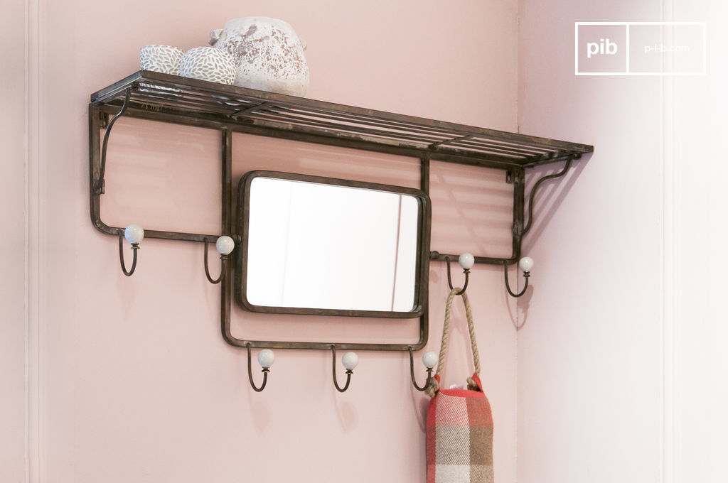 Shelve With Hook And Adjustable Mirror Pib Sweden