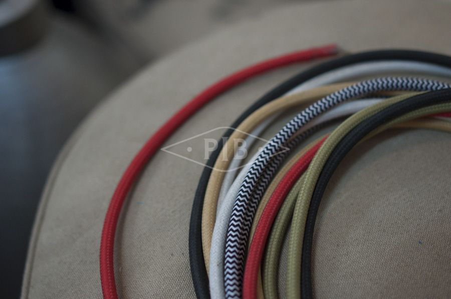 A selection of power cables for lamps. Every detail counts
