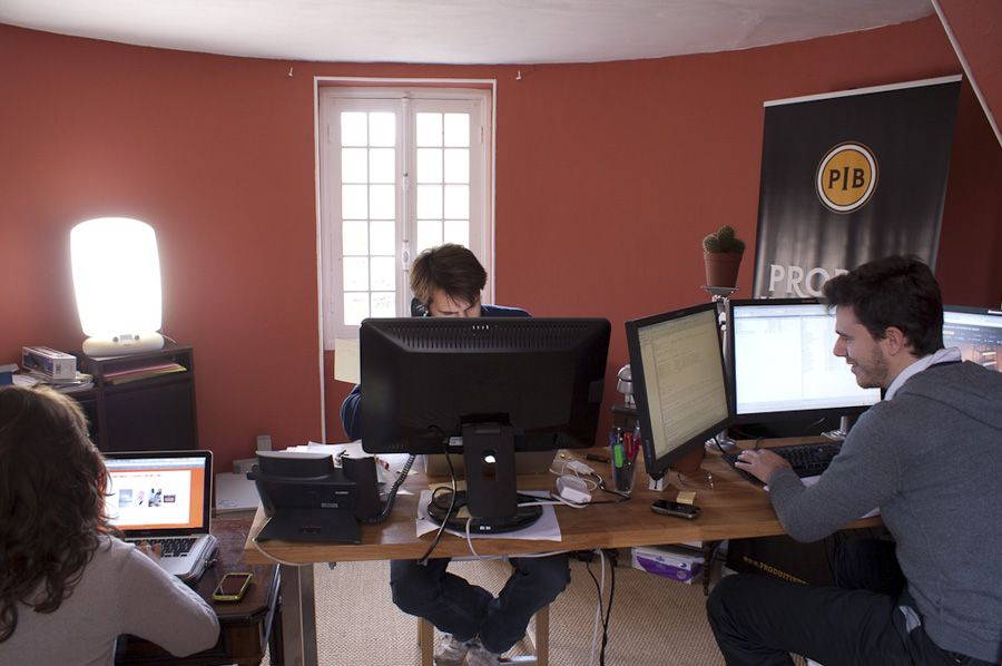 Our first office with 3 people...