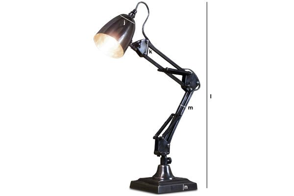Product Dimensions 1957 desk lamp
