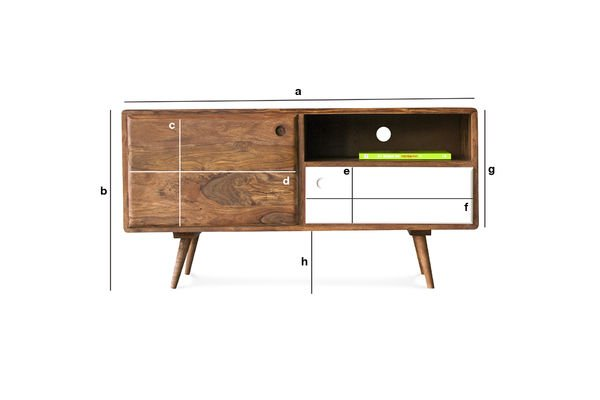 Product Dimensions 1969 TV console