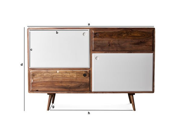 Product Dimensions 1969 wooden buffet
