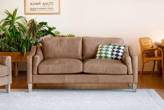 2-seater sofa Heidsieck cinnamon