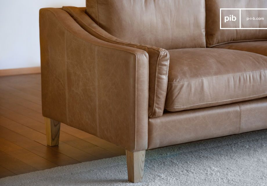 Very stable with its nicely varnished solid wooden legs and ultra-comfortable with its two