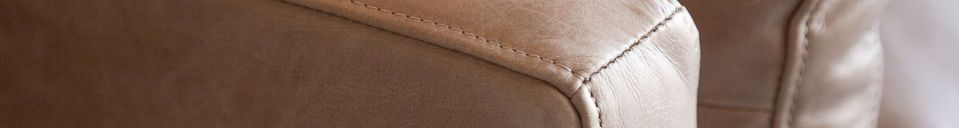 Material Details 2-seater sofa Heidsieck cinnamon