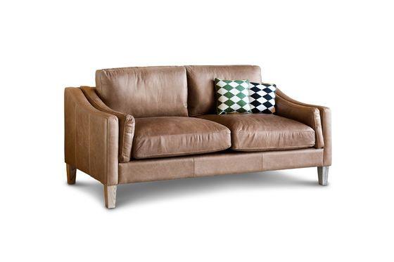 2-seater sofa Heidsieck cinnamon Clipped