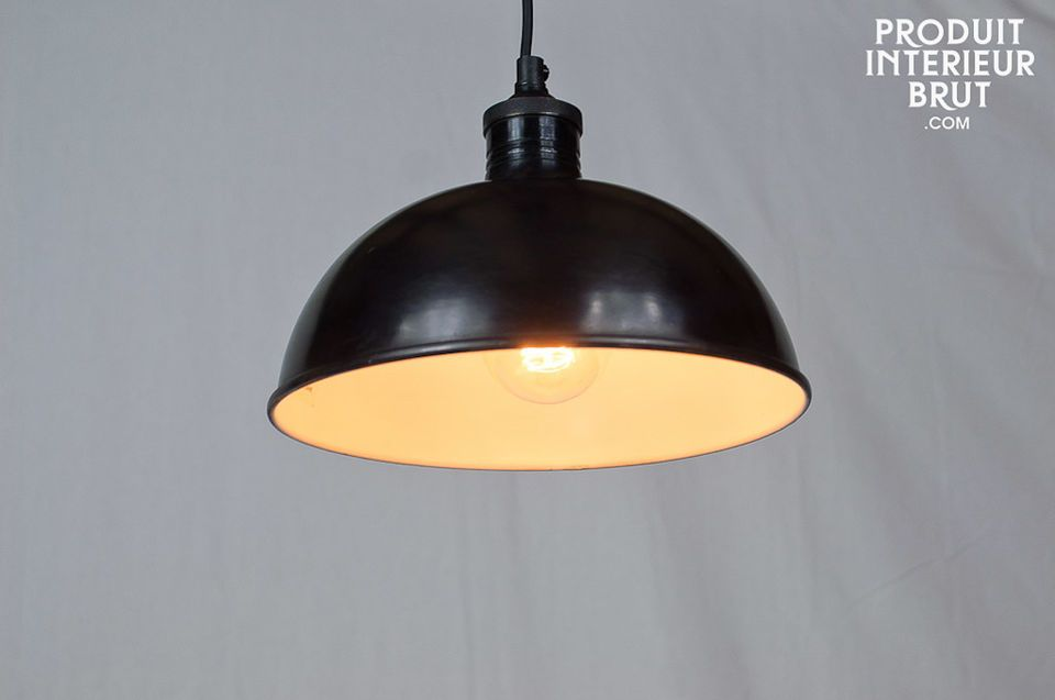 Satin black pendant light