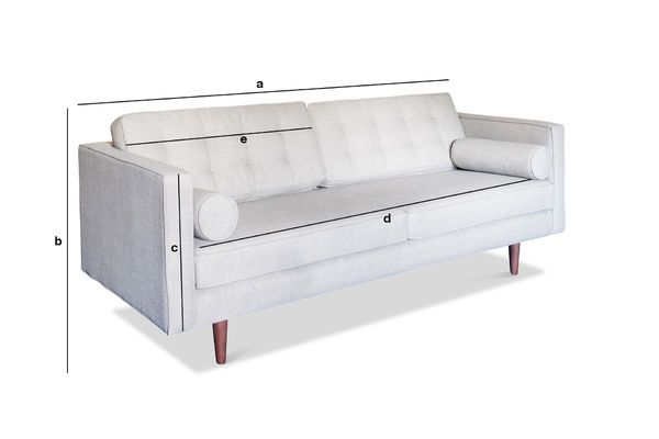 3 seater silkeborg sofa vintage spirit pib for Sofa 50 cm sitzhohe