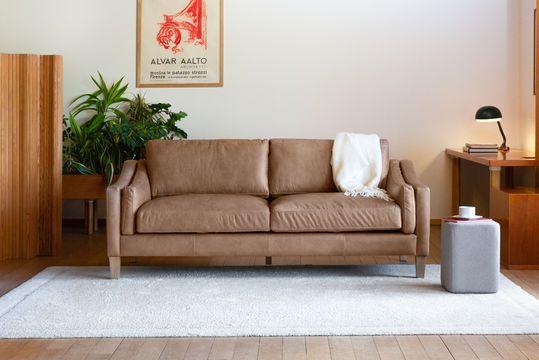 3-seater sofa Heidsieck cinnamon