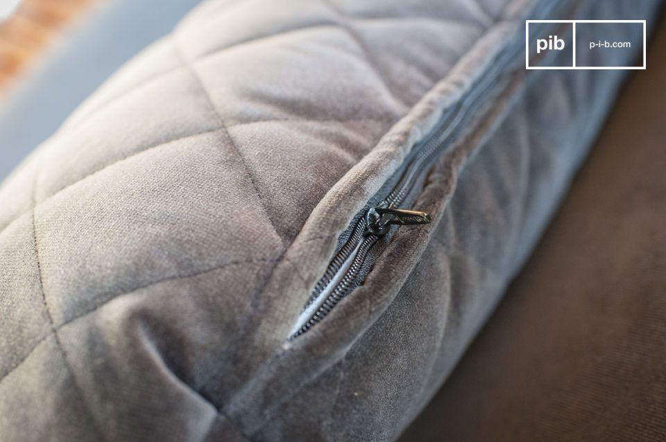 Based on the contrast between the grey anthracite velvet and the light wooden legs visible below the
