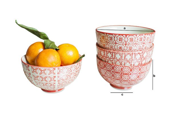 Product Dimensions 4 small  Kennedy bowls