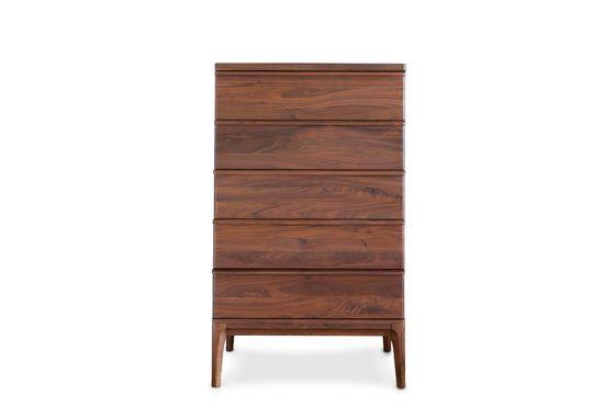 5 drawers Hemët walnut sideboard Clipped
