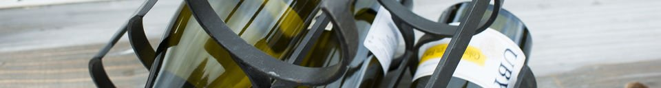 Material Details 6 Bottles Metal Storage Rack