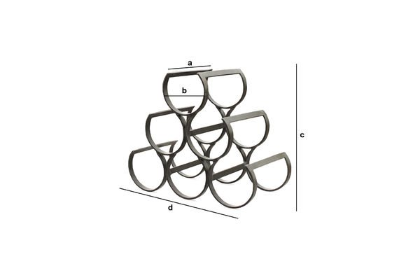 Product Dimensions 6 Bottles Metal Storage Rack
