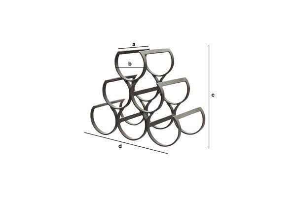 Product Dimensions 6 Bottles Metal Storage Rack