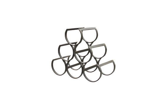 6 Bottles Metal Storage Rack Clipped