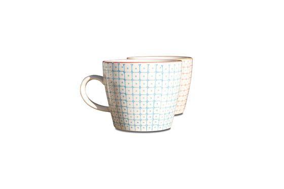 6 cups Brüni porcelain Clipped