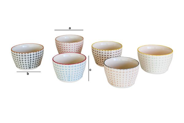 Product Dimensions 6 small Bruni bowls
