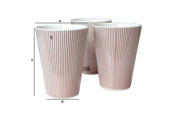 Product Dimensions 6 Teli cups