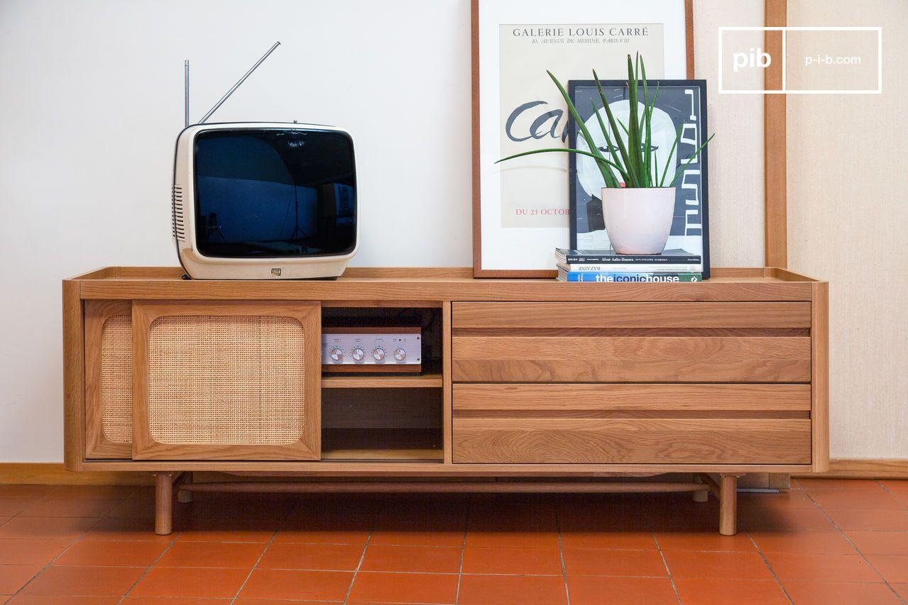 Aarne Tv Cabinet In Light Oak Retro Spirit And Bright Pib Ireland