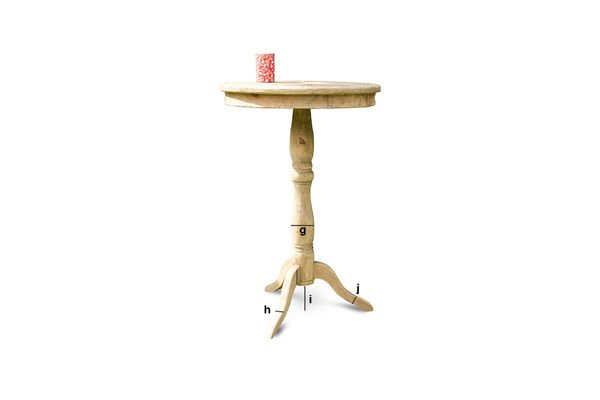 Product Dimensions Adèle wooden table