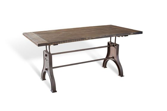 Adjustable Industrial table Silver Lake Clipped