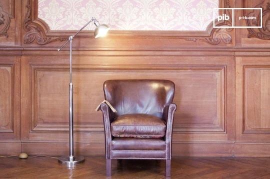 Adjustable metal reading lamp