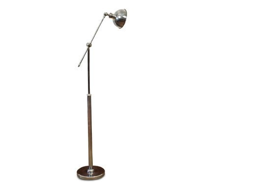 Adjustable metal reading lamp Clipped