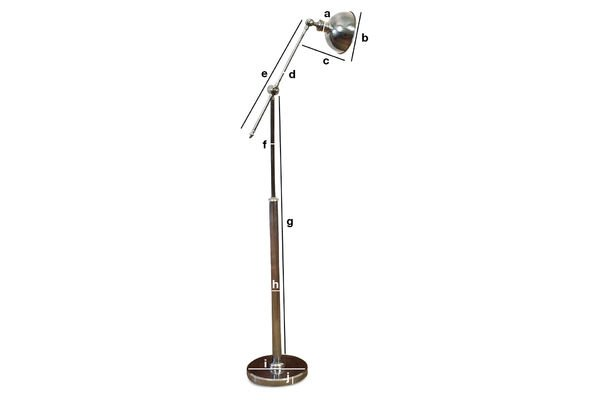 Product Dimensions Adjustable metal reading lamp
