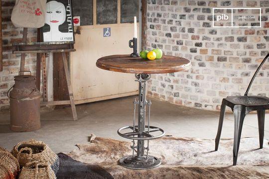 Adjustable teak bistro table Salvage