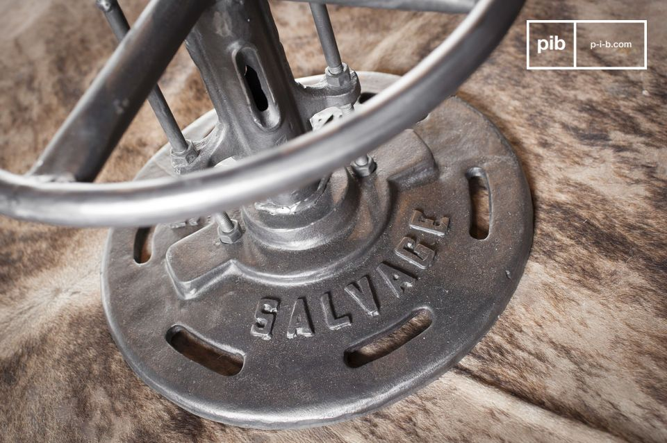 The Salvage bistro table will bring to your interior design the undeniable industrial style with